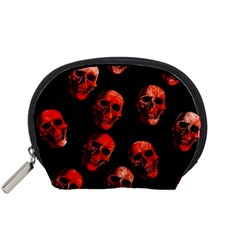 Skulls Red Accessory Pouches (Small)