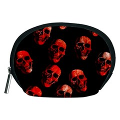 Skulls Red Accessory Pouches (Medium)