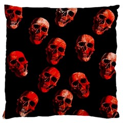 Skulls Red Large Flano Cushion Cases (One Side)