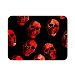 Skulls Red Double Sided Flano Blanket (Mini)