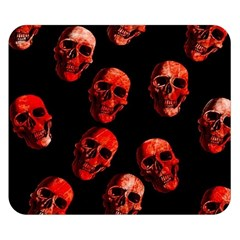 Skulls Red Double Sided Flano Blanket (Small)