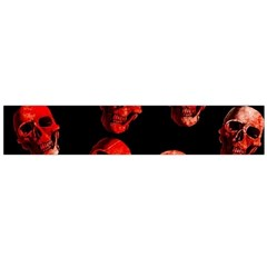 Skulls Red Flano Scarf (Large)