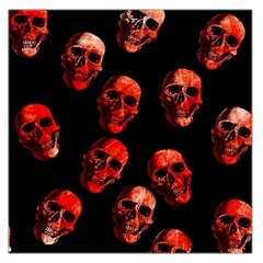 Skulls Red Large Satin Scarf (Square)