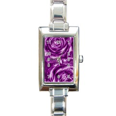 Gorgeous Roses,purple  Rectangle Italian Charm Watches