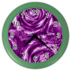 Gorgeous Roses,purple  Color Wall Clocks by MoreColorsinLife