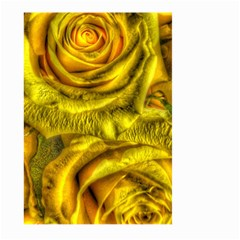Gorgeous Roses, Yellow  Large Garden Flag (two Sides) by MoreColorsinLife