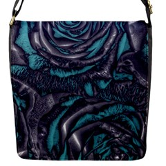 Gorgeous Roses, Aqua Flap Messenger Bag (s) by MoreColorsinLife