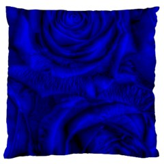 Gorgeous Roses,deep Blue Large Cushion Cases (two Sides)