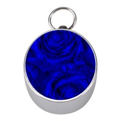 Gorgeous Roses,deep Blue Mini Silver Compasses
