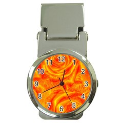 Gorgeous Roses, Orange Money Clip Watches
