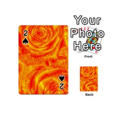 Gorgeous Roses, Orange Playing Cards 54 (mini)  by MoreColorsinLife
