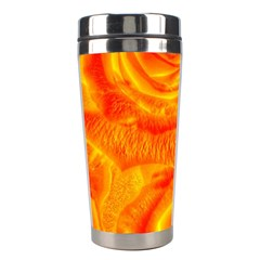 Gorgeous Roses, Orange Stainless Steel Travel Tumblers by MoreColorsinLife