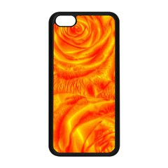 Gorgeous Roses, Orange Apple Iphone 5c Seamless Case (black)