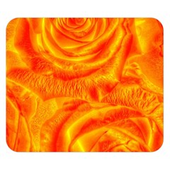 Gorgeous Roses, Orange Double Sided Flano Blanket (small)  by MoreColorsinLife
