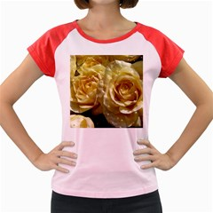 Yellow Roses Women s Cap Sleeve T Shirt