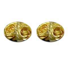 Yellow Roses Cufflinks (oval)