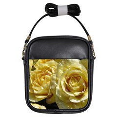 Yellow Roses Girls Sling Bags by MoreColorsinLife