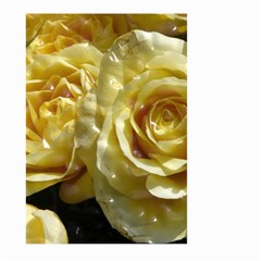 Yellow Roses Large Garden Flag (two Sides)