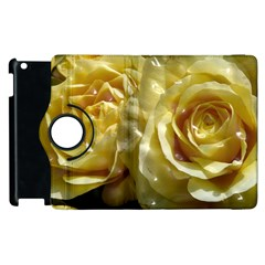 Yellow Roses Apple Ipad 3/4 Flip 360 Case by MoreColorsinLife