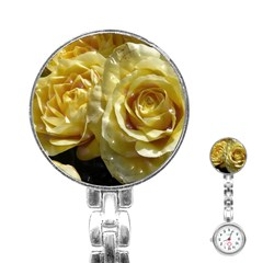 Yellow Roses Stainless Steel Nurses Watches