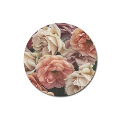 Great Garden Roses, Vintage Look  Magnet 3  (round) by MoreColorsinLife
