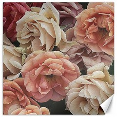 Great Garden Roses, Vintage Look  Canvas 12  X 12   by MoreColorsinLife