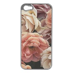 Great Garden Roses, Vintage Look  Apple Iphone 5 Case (silver) by MoreColorsinLife
