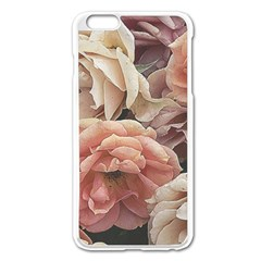 Great Garden Roses, Vintage Look  Apple Iphone 6 Plus Enamel White Case by MoreColorsinLife