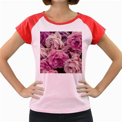Great Garden Roses Pink Women s Cap Sleeve T Shirt by MoreColorsinLife