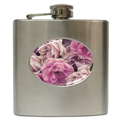 Great Garden Roses Pink Hip Flask (6 Oz) by MoreColorsinLife