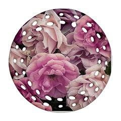 Great Garden Roses Pink Round Filigree Ornament (2side)