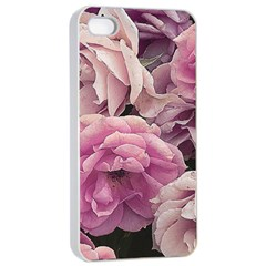 Great Garden Roses Pink Apple Iphone 4/4s Seamless Case (white) by MoreColorsinLife