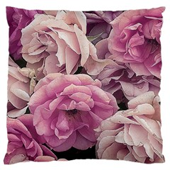 Great Garden Roses Pink Large Cushion Cases (one Side)