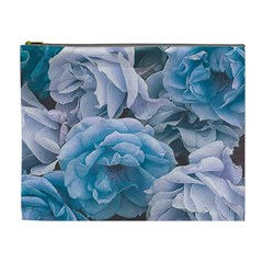 Great Garden Roses Blue Cosmetic Bag (xl)
