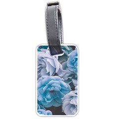 Great Garden Roses Blue Luggage Tags (one Side)