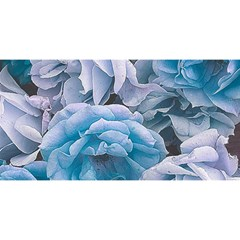 Great Garden Roses Blue You Are Invited 3d Greeting Card (8x4)  by MoreColorsinLife