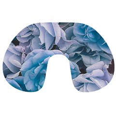 Great Garden Roses Blue Travel Neck Pillows