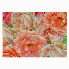 Great Garden Roses, Orange Large Glasses Cloth (2 Side) by MoreColorsinLife