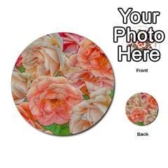 Great Garden Roses, Orange Multi Purpose Cards (round)  by MoreColorsinLife