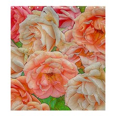 Great Garden Roses, Orange Shower Curtain 66  X 72  (large)