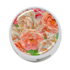 Great Garden Roses, Orange 4 Port Usb Hub (one Side)