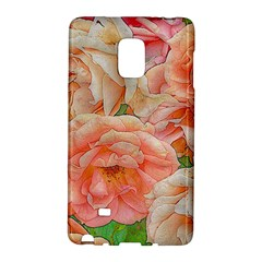 Great Garden Roses, Orange Galaxy Note Edge by MoreColorsinLife