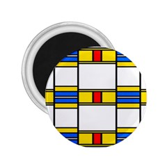 Colorful Squares And Rectangles Pattern 2 25  Magnet by LalyLauraFLM