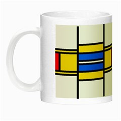 Colorful Squares And Rectangles Pattern Night Luminous Mug by LalyLauraFLM
