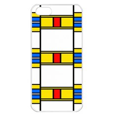 Colorful Squares And Rectangles Pattern Apple Iphone 5 Seamless Case (white) by LalyLauraFLM