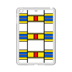 Colorful Squares And Rectangles Pattern Apple Ipad Mini 2 Case (white) by LalyLauraFLM