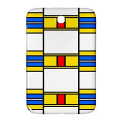 Colorful Squares And Rectangles Pattern Samsung Galaxy Note 8 0 N5100 Hardshell Case  by LalyLauraFLM