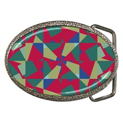 Shapes In Squares Pattern Belt Buckle by LalyLauraFLM