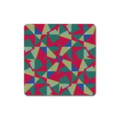 Shapes In Squares Pattern Magnet (square) by LalyLauraFLM
