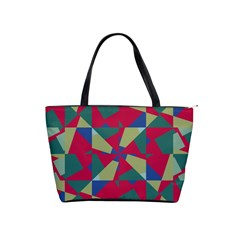 Shapes In Squares Pattern Classic Shoulder Handbag by LalyLauraFLM